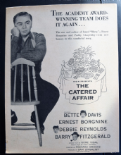 The Catered Affair (1956) - Bette Davis | Vintage Trade Ad
